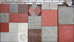 Tile vibrocast 250*250*60 in assortment
