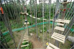 Construction of rope parks