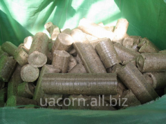 Briquettes made of sawdust