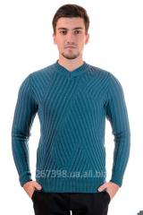 Men's sweater of original knitting model 61