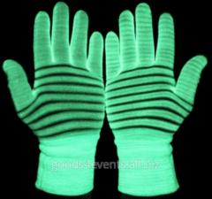 Shining LED gloves