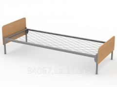 Кровать одноместная металлическая сетка,ДСП