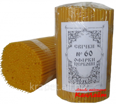 Church candles No. 60, (packing of 2 kg)