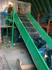 Line of sorting and waste recycling