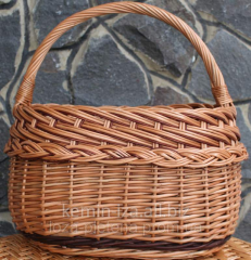 "Basket from a rod ""A double braid"