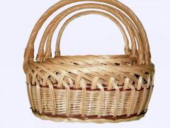 Плетенные корзины из лозы по доступным ценам,