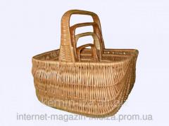 The Gollender High set, baskets wattled of a rod