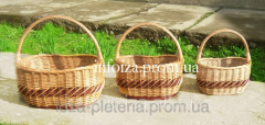 Baskets are economic, a set of baskets wattled of