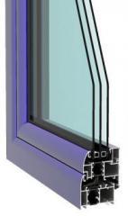 Door aluminum entrance TM Lyuvin P69 (Rescara)