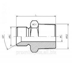 Прямой редукционный адаптер с 60° конусом AGR-AGRR