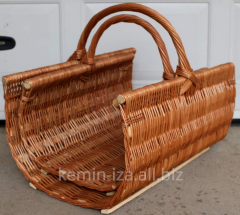 Drovnitsa wattled, the Set of baskets for firewood