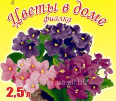 Грунтовая смесь для фиалок на основе биогумуса Цветы в доме 2,5 л