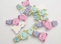 Decorative figures buttons Bear cub