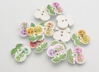 Decorative figures buttons of the Berry
