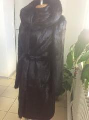 Fur coat from a nutria