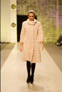 Coat from natural mink