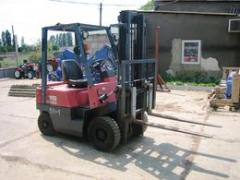 I will sell the loader fork NISSAN FG 15