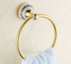 Держатель-кольцо для полотенца Ceramic Ring Gold,