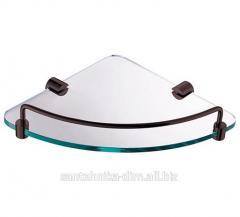 Угловая полка для ванной Angular Glass Dark