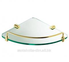 Угловая полка для ванной Angular Glass Gold,