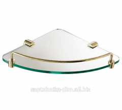 Угловая полка для ванной Angular Glass Bronze,