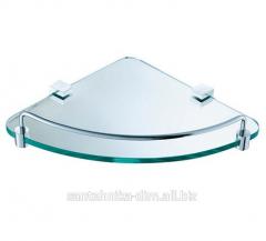 Угловая полка для ванной Angular Glass Chrome,