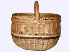 Stylish baskets the hands, a basket for picnic