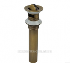 Discharge for a sink with the ground Turn Bronze