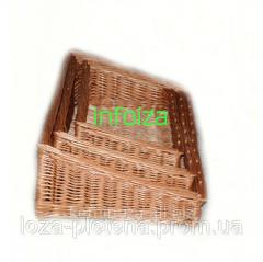 Плетенные изделия из лозы, лотки деревянные оптом, Иза