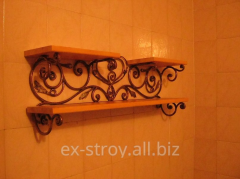 Полки кованые, кованые изделия в дом, мебель