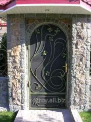 Двери входные, дверь с элементами ковки, двери под