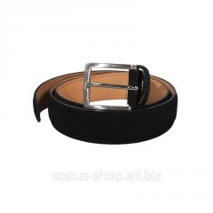Замшевый ремень для брюк Tony Perotti(Черный)
