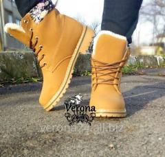 Ботинки женские зимние тимберленды