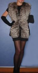 Fur vests from a mink, silver foxes, foxes