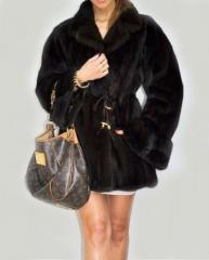 Mink coat. Scandinavian mink. Long smar