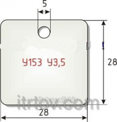 Cable label of U153 U3,5 of 1000 pieces.