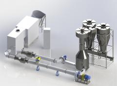 Aerodynamic drying for sawdus