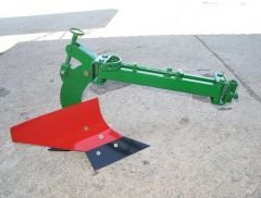 Plow rotary-adjustable to heavy motor-blocks