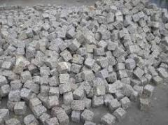 Square stone blocks from the producer, granite