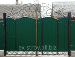 Gate shod the different size, green gate from the
