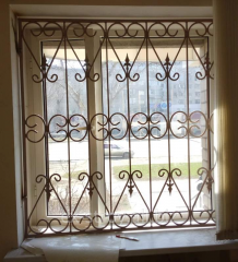 Obreshetka is window, the lattice forged metal on
