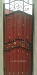 Gates with forging elements, the forged gates from