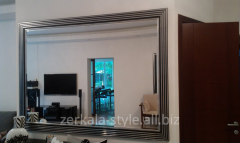 Interior mirror in a frame under the order with