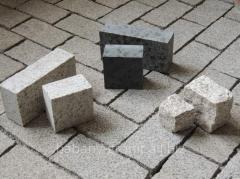 Granite stone blocks, stacked stone, pavings from