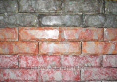 Polished stone for sidewalks and squares, a stone