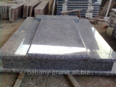 Granite stone on gravestones, products from a