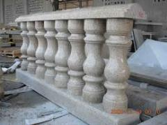 Columns granite, products from granite, products