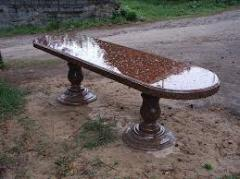 Granite benches, sculptures from granite,