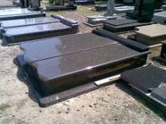 Stone crosses, gravestones, protections on graves