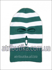 Cap sports - mask white-green 07, art. 7